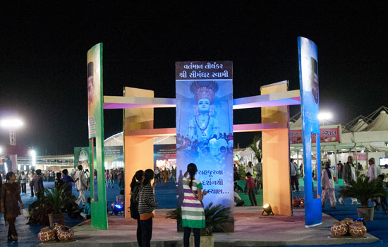 Onlookers amazed at the grand splendour of the Janma Jayanti event