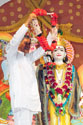 Deepakbhai Placing a Garland On Lord Krishna